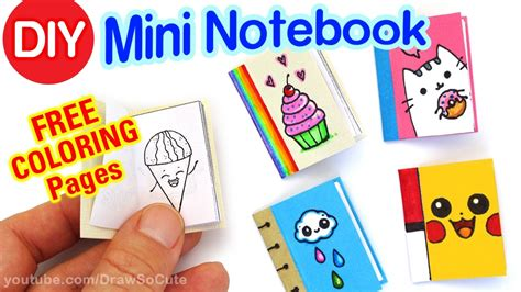 draw so mini waterfall card template how to make a mini notebook easy diy craft