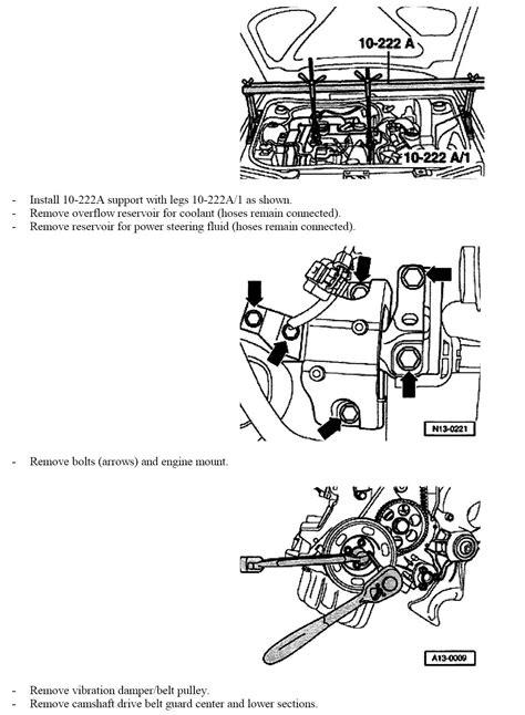 replace water pump  timing belt  jetta