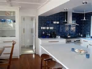Blue Tile Backsplash Kitchen Pops Of Ocean Blue In Every Room Ideas Amp Inspiration