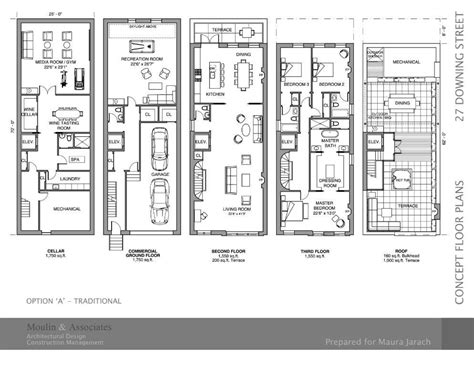 brownstone row house floor plans meze