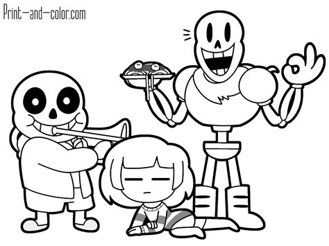 coloring pages undertale undertale coloring pages print and color