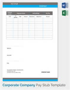 stub template sle pay stub template 24 free documents in