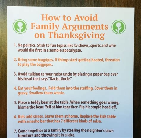 7 Ways To Avoid An Argument by How To Avoid Family Arguments On Thanksgiving