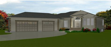 High Quality House Plans With 3 Car Garage 8 Bungalow Floor Plans Bungalow Attached Garage