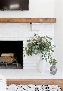 white modern fireplace get inspired the diy white brick fireplace glitter inc