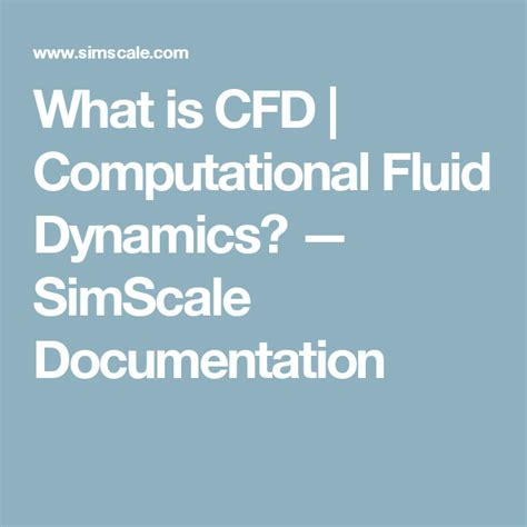 what is cfd computational fluid dynamics simscale