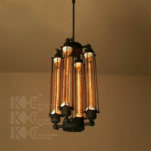 Industrial Style Lighting by Kc Loft Attic Flute Creative Lighting Chandelier Bar
