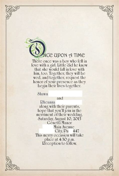 Once Upon A Time Storytales Includes 6 Stories Str Stale Once once upon a time story book theme invitation found on weddingbee your inspiration