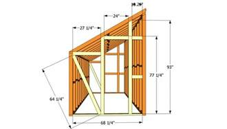 how to build a lean to shed plans free woodworking