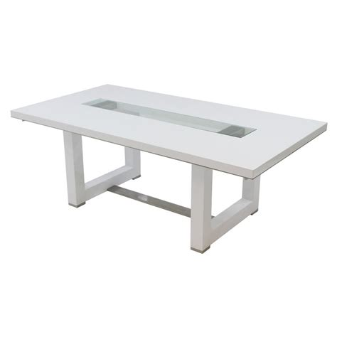 White Extendable Dining Table by Novo White Extendable Dining Table El Dorado Furniture