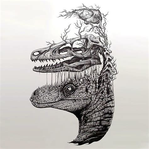 surreal tattoo designs surreal dinosaur design tattoos