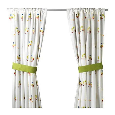 how to shorten curtains without sewing ikea torva baby children kids curtains with tie backs ebay