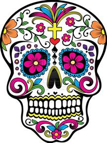 colorful sugar skull dia de los muertos sugar skull drawing painting workshop