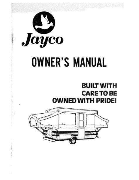 1981 Jayco Jay Finch Flight Popup Trailer Owners Manual Ebay
