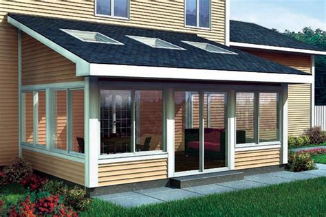 Cost Of Sunroom In Canada Project Plan 90021 Shed Roof Sun Room Addition For Two