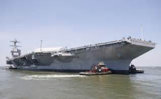 delivery of navy s costliest aircraft carrier delayed again