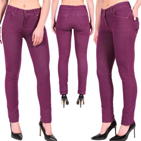 Size Xl Celana Katun Stretch 7 8 Legging Katun 7 8 Merk 3r new jeggings womens coloured stretchy trouser s 7xl ebay