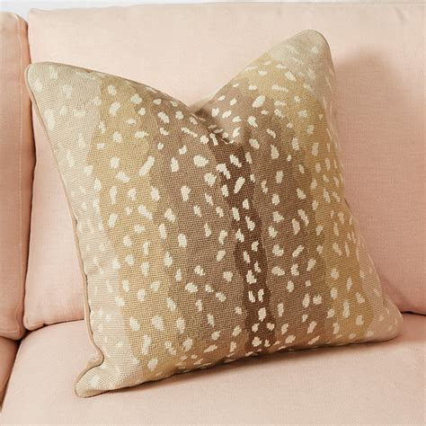 ballard design pillows antelope needlepoint pillow ballard designs