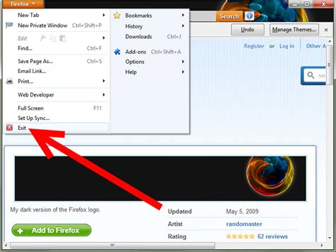 firefox themes how to make how to get mozilla firefox themes 4 steps with pictures