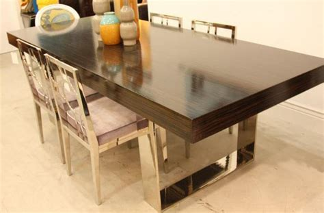 Www Roomservicestore Com U Leg Glossy Macassar Dining Table Dining Table Service