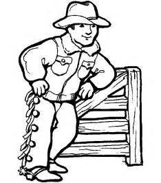cowboy coloring pages coloring pages print