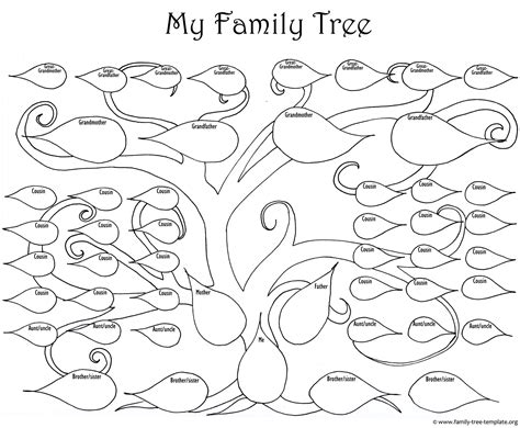 family tree template print newhairstylesformen2014 com the large family tree chart for kids to print and color