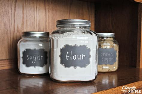 Glass Kitchen Canister Diy Gift Idea Flour Amp Sugar Containers