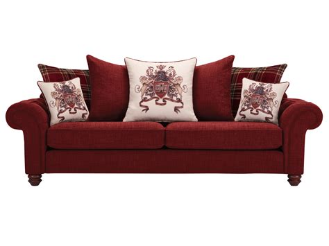 extra large sofa pillows sandringham extra large pillow back sofa in red with red