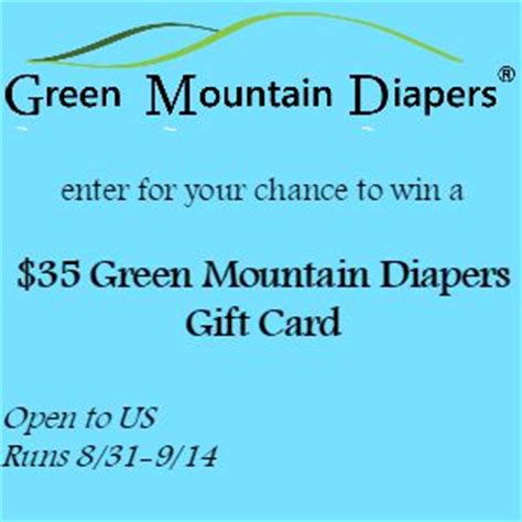 Green Mountain Sweepstakes - mamathefox 35 green mountain diapers giveaway