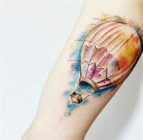 48 incredible air balloon tattoo designs air balloon