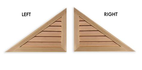 Triangular Gable Louvers Vents And Grilles For The Hvac Industry Right