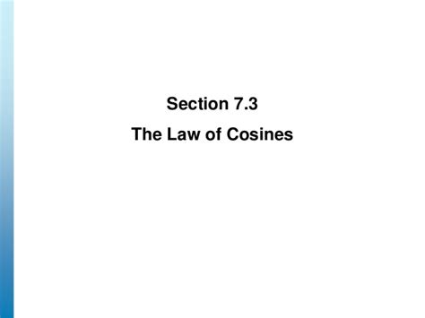 law section 18 lecture 18 section 7 1 7 3 laws of sin cos