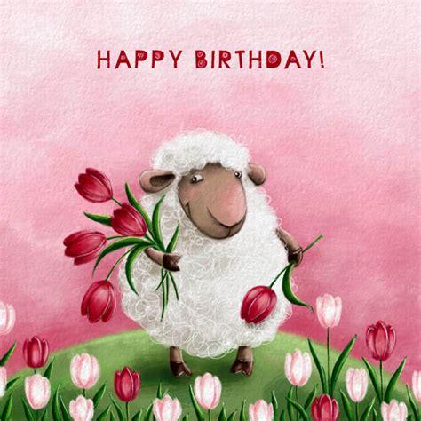 Sheep Birthday Card Elina Ellis Illustration Happy Birthday