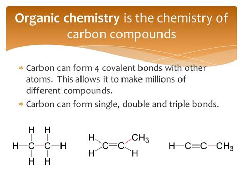 What Is An Organic Compound Organic Chemistry Chemistry Ppt
