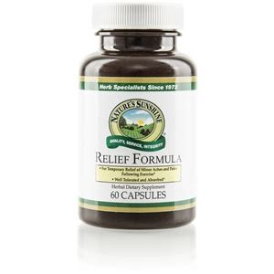 Formula 60 Caps nature s relief formula product information
