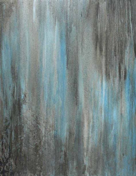 painting greys original abstract modern art blue grey brown forever