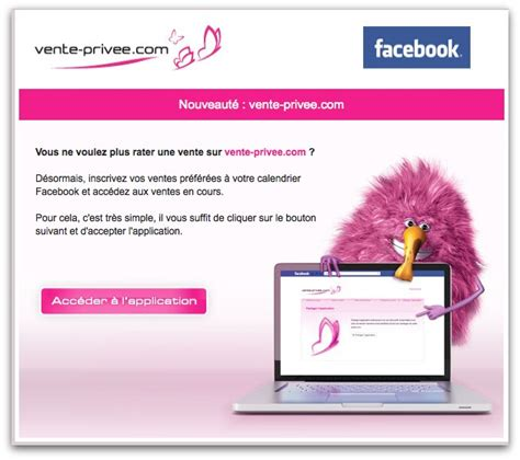 si鑒e social vente priv馥 emailing vente priv 233 e com annonce application