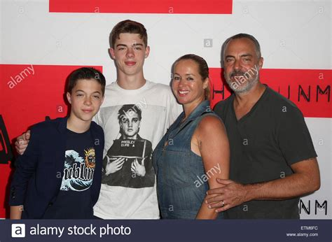 titus welliver family photos premiere of open road films quot the gunman quot featuring titus