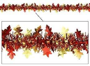 fall leaves garland decorations fall decorations supplies autumn leaves tinsel