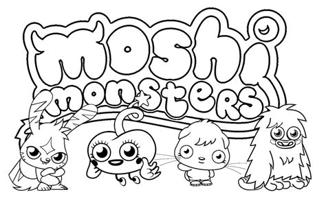 Free Printable Coloring Pages Moshi Monsters | free printable moshi monster coloring pages for kids
