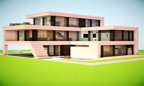 minecraft modern house tutorial minecraft how to build a modern house best modern house