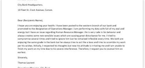 Complaint Letter Against Coworker Sle Complaint Letter To The Insurance Company About Unfair Settlement Writeletter2