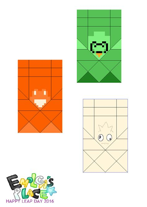 what soda place and frog origami templates happy
