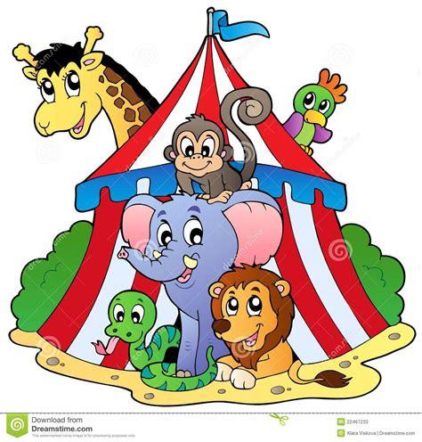 imagenes de reflexion el circo varios animales en tienda de circo ilustraci 243 n del vector