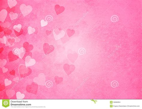 pink valentines day s day pink hearts background stock illustration