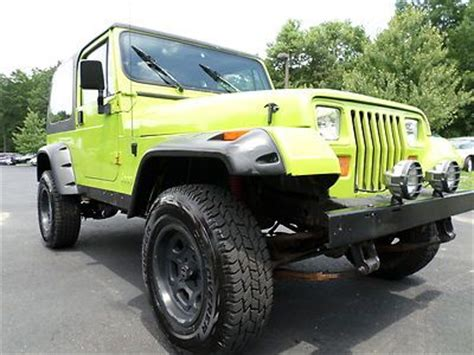 Jeep Wrangler Paint Sell Used No Reserve 1995 Jeep Wrangler 4x4 Custom Paint
