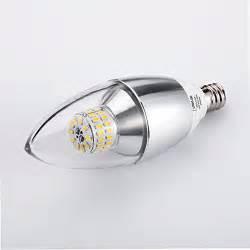 60 Watt Led Light Bulbs Pack Of 3 174 Lohas Dimmable Led Candelabra Bulb 6 Watt 60 Watt Equivalent Daylight White