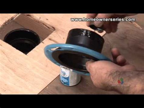 how to fix a toilet wooden subflooring flange repair