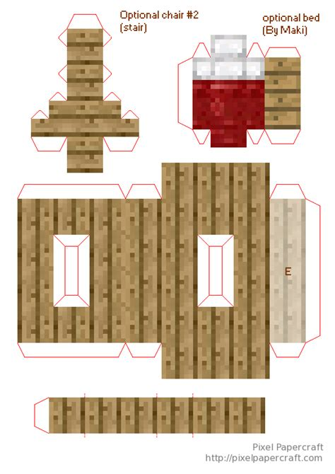 Papercraft Minecraft House - minecraft papercraft mini house pictures to pin on
