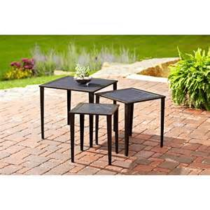 hometrends ii 3 nesting patio tables
